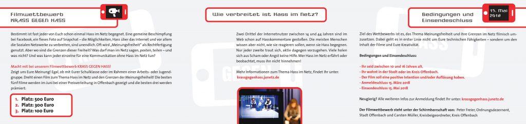 Krass gegen Hass Flyer back