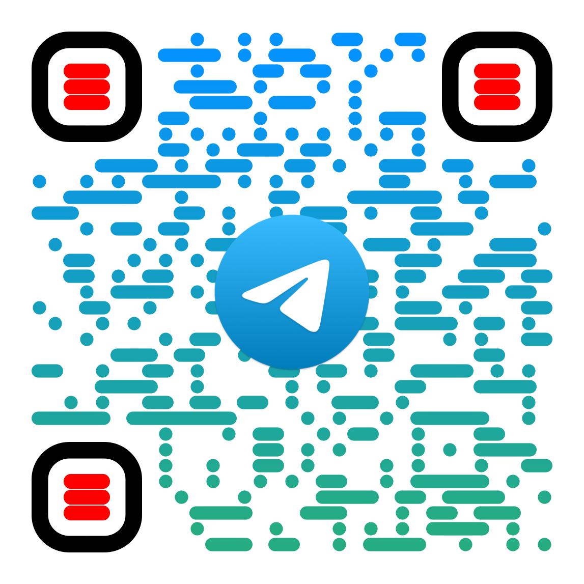 QR Code zum Telegram-Kanal der Medien-Etage
